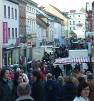 Hauptstraße Illingen beim Wurstmarkt
